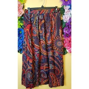 Vintage colorful maxi skirt- size 12
